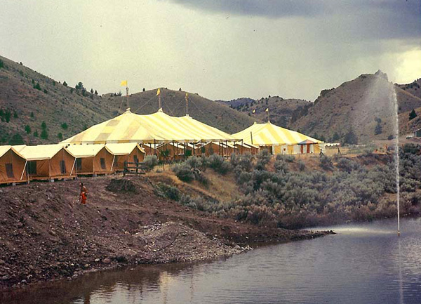 tents for accommodation and catering