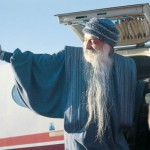 Osho leaving the Ranch by plane