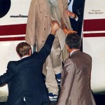 Osho steps out of plane