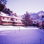 Townhouses in winter