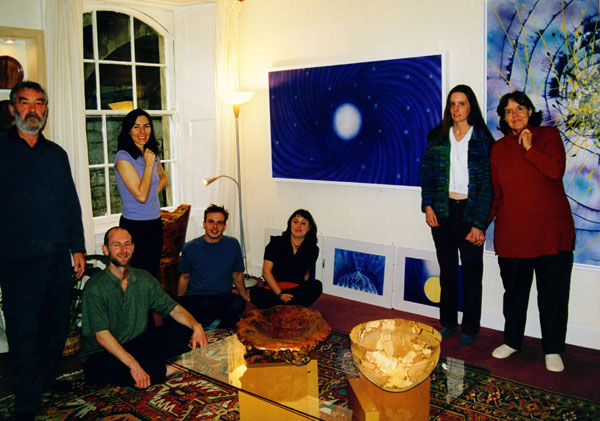 Amiten's exhibition in Edinburgh, 2000