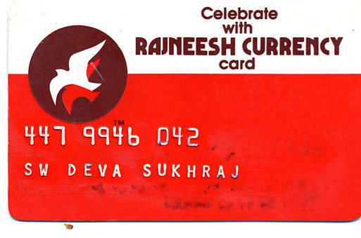 Rajneesh Currency Card