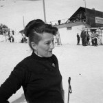 mother on skiing holidays