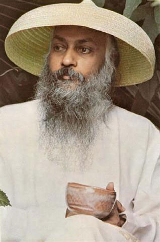 Osho wearing Chinese hat (from Geneva)